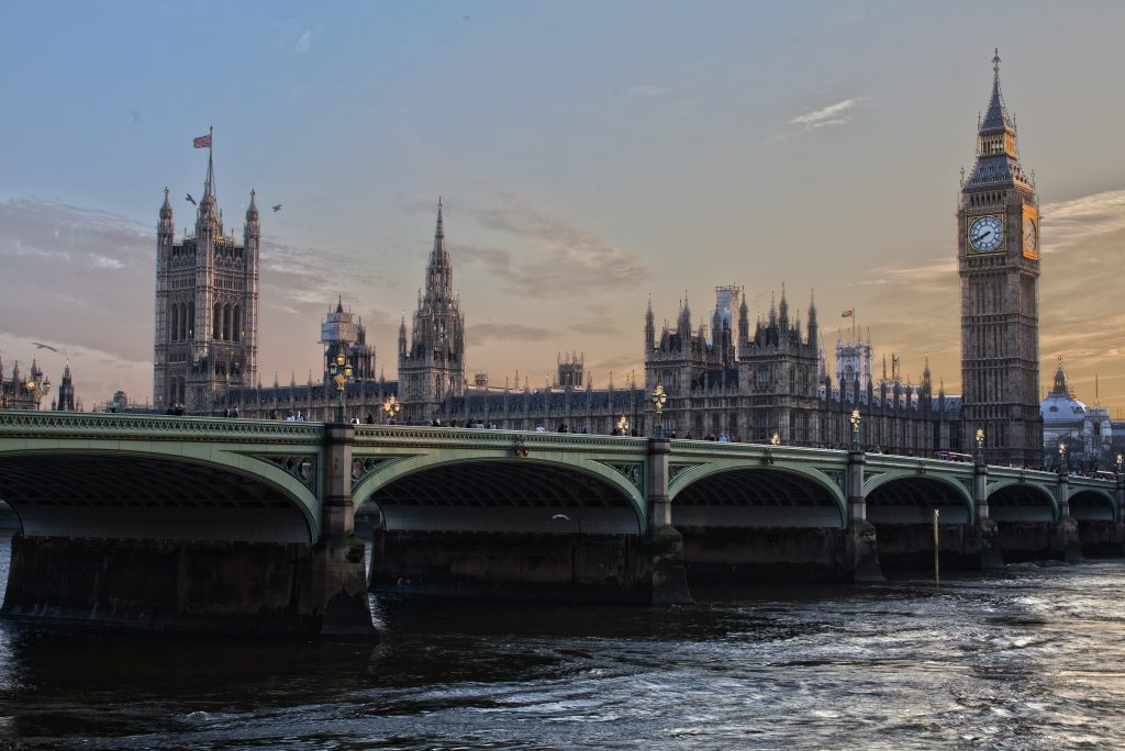 A view of the House of Parliament from the River Thames