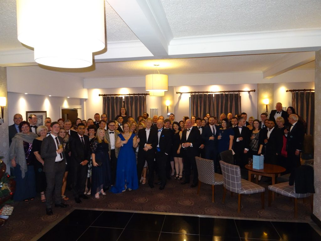 Photograph of the Cottons team at their Christmas party in December 2017