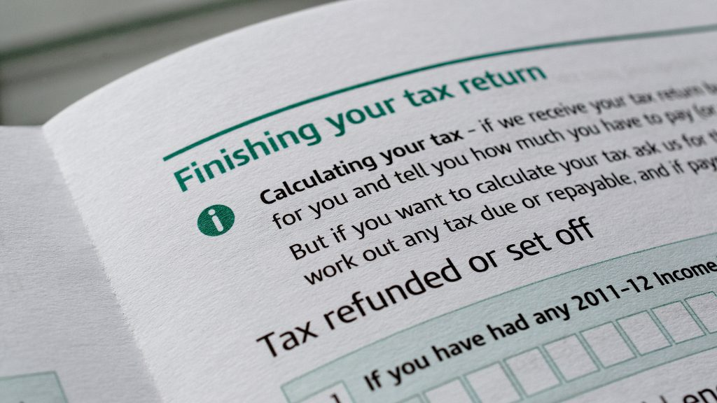 Snippet of a Self-Assessment Tax Return