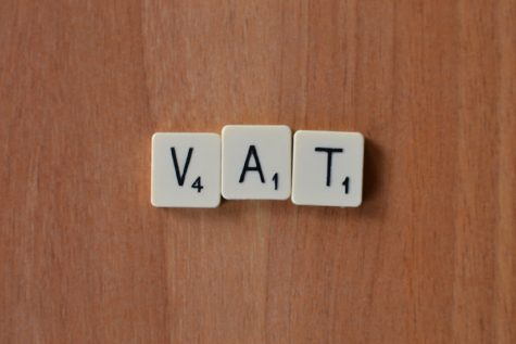 VAT spelled with scrabbled letters