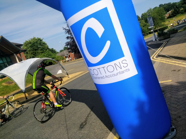 cottons accountants during a cycle event