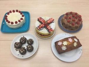a selection of cakes from Cottons bake off