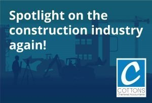 Spotlight on the construction industry again!