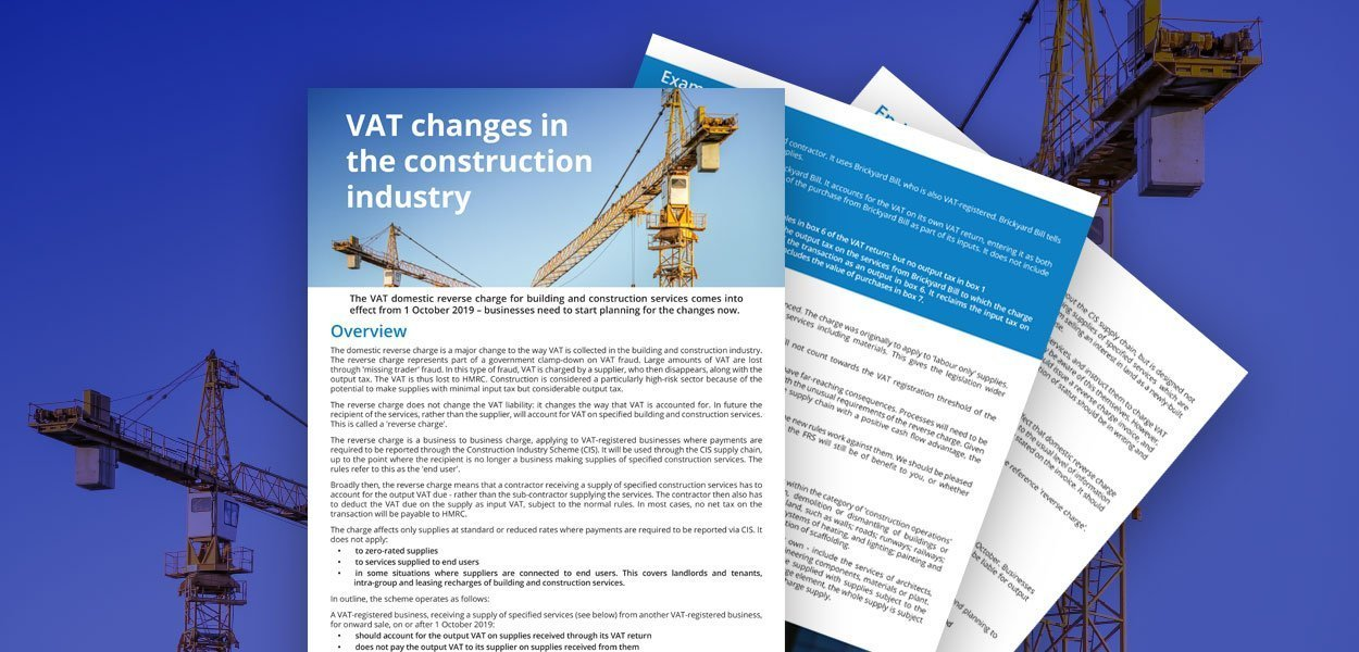 Changes to the construction industry
