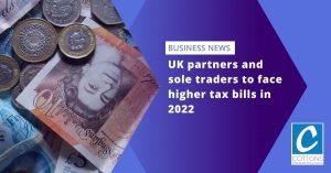 UK partners and sole traders to face higher tax bills in 2022